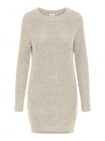 NMSIESTA L/S O-NECK KNIT DRESS BG